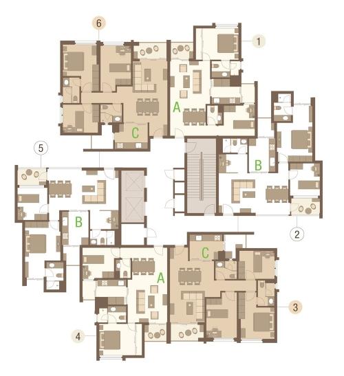 Mặt bằng Khu căn hộ hiện đại Rừng Cọ